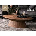 センターテーブル ローテーブル 円型 リビングテーブル 木製 ウォールナット モダン 北欧 シンプル デザイナーズ おしゃれ 丸 ASSIA