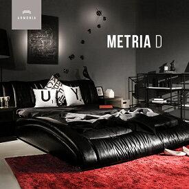 ローベッド ベッド ベッドフレーム ダブル ベット 革 レザー 合皮 合成皮革 フロア ロータイプ すのこ デザイナーズ bed インテリア 家具 北欧 モダン 高級 ラグジュアリー D