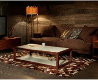 テーブル【送料無料】センターテーブルガラステーブル木製テーブルウォールナット木製ガラスインテリア家具北欧モダンアルモニア