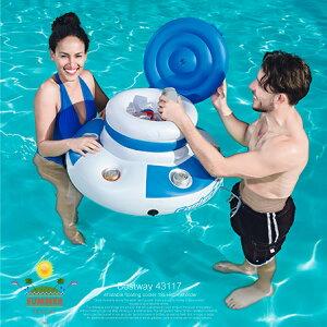 フローティングクーラー 浮き輪 ドリンクホルダー×6 内容量12L フロート プール 海 海水浴 ビーチ 水遊び 水浴び 夏 インスタ映え 夏 直径70cm×高さ42cm クーラーボックス _85376