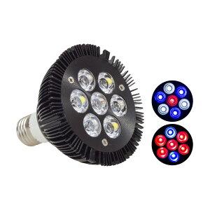 アクアリウム ライト LED 水槽 照明 21W 7LED 電球型 E26 E27 ソケット対応 95mm×95mm 熱帯魚 水草 流木 金魚 インテリア 観賞用 癒し あす楽対応 【送料無料】@87236