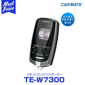 CARMATE カーメイト リモコンエンジンスターターセット TE-W7300 【TE54,TE202】 ストリーム H18.07〜H24.04 RN6〜9系 スマートキー・セキュリティアラーム・イモビライザー無し車
