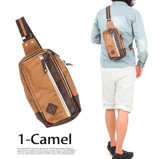 ボディバッグメンズバッグショルダーバッグフェイクレザーワンショルダーボディーバッグボディバック小物カバンかばん鞄男性用メンズカジュアル小物あす楽