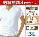 送料無料3枚セット 快適工房 半袖V首Tシャツ 3Lサイズ 日本製 グンゼ GUNZE 通販 | メンズ 紳士 男性
