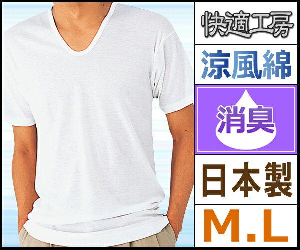 快適工房 涼風綿 半袖U首Tシャツ Mサイズ Lサイズ グンゼ GUNZE 日本製| 父の日 ギフト メンズ インナー メンズインナー 夏 涼しい 涼感 夏用 下着 男性下着 綿100% 肌着 紳士 クール クールインナー ひんやり クールビズ インナーシャツ