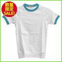 トップス トレーニング ホワイト ターコイズブルー Tシャツ