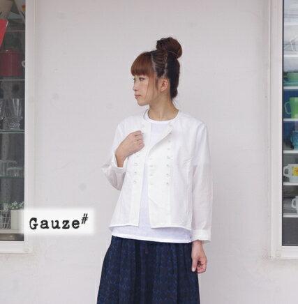 【送料・代引き手数料無料】gauze#(ガーゼ)BASIC LINE g(グラム) スイスコットンコックシャツ g010