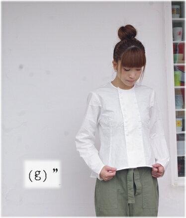 【送料・代引き手数料無料】gauze#(ガーゼ)BASIC LINE g(グラム)ウェザークロスコックシャツ g002