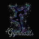 【スパングル】 スパンコールモチーフ (gymnast)レオタード アイロン接着 Lサイズ
