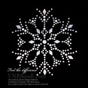 【スパングル】 雪の結晶デザイン Snow cristral スパンコールモチーフ アイロン接着 Mサイズ