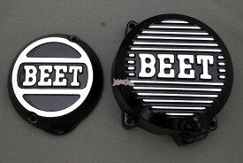 【あす楽対応】BEET ポイントカバー(ブラック)+ジェネレーターカバー(ブラック)/ゼファー400・ゼファーカイ 0401-K03-04+0402-K03-04