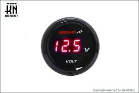 【あす楽対応】KN企画 KOSO i-Gearメーター(電圧計)レッド表示 KS-MIG-VR