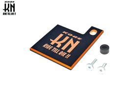 【あす楽対応】KN企画 自賠責ステッカープレート ダブルアルマイト(ブラック/オレンジ) JS-SH-BKOR