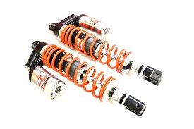 KN企画 XMAX250・XMAX300・PCX RCB 348-353mm リアショック減衰調整 DB-5(シルバー/レッド) 01A0134R