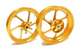 KN企画 NINJA250 (13-15年) RCB 鍛造ホイール前後セット FG506(ゴールド) 01FG004G