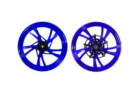 KN企画 GSX-R125/150・GSX-S125/150 MOS 鍛造アルミホイール前後セット(ブルー) Z-GSX-FG-5-05-KN