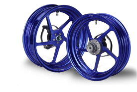 KN企画 NMAX125・NMAX150・NMAX155 RCB 鍛造ホイール前後セット FG506(ブルー) 01FG010A-KN