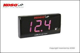 【あす楽対応】KN企画 KOSO スーパースリムスタイルメーター電圧計レッド表示 KS-M-VR