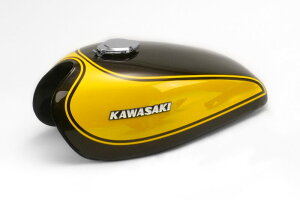 Kawasaki Z1/Z2('73モデル) PMC ピーエムシー 82-36021-2 タンク 16L イエローボール