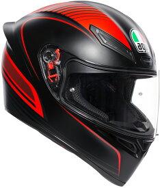 AGV(エージーブイ) バイク用ヘルメット フルフェイス K1 WARMUP MATT BLACK/RED (ウォームアップ マットブラック/レッド) XLサイズ (61-62cm) 028192IY002-XL