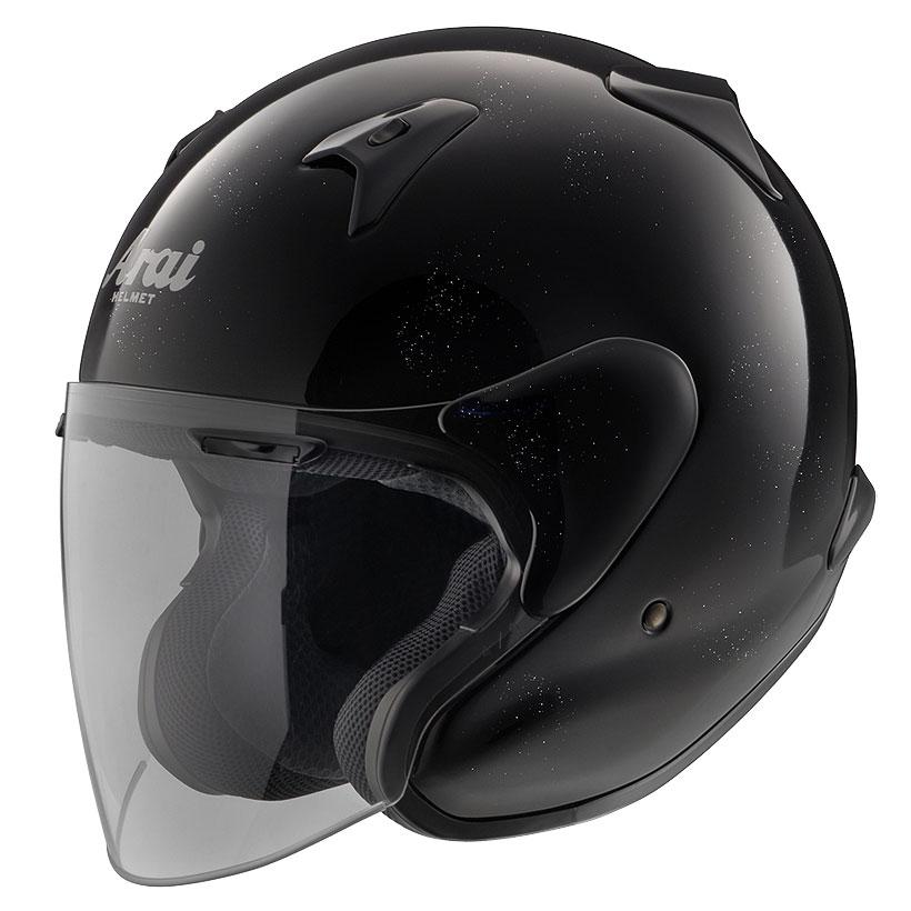 ARAI ジェットヘルメット MZ-F グラスブラック Mサイズ 57-58cm