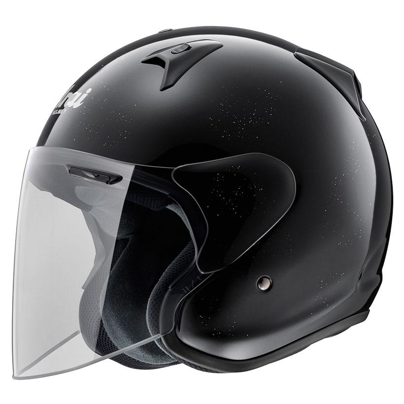 ARAI ジェットヘルメット SZ-G グラスブラック Lサイズ 59-60cm