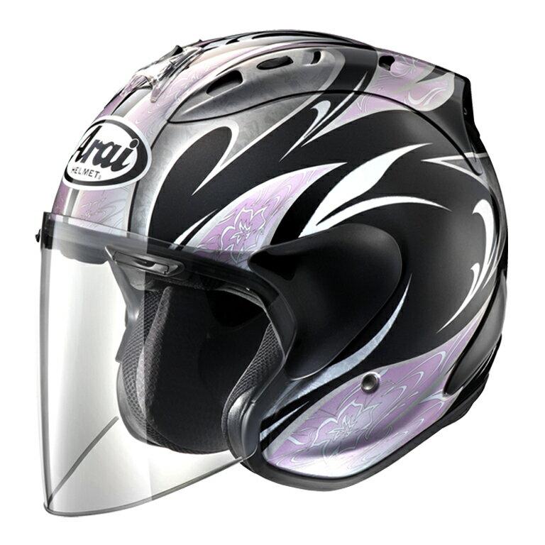 ARAI ジェットヘルメット SZ-RAM4 KAREN (カレン) ブラック/ピンク Sサイズ 55-56cm