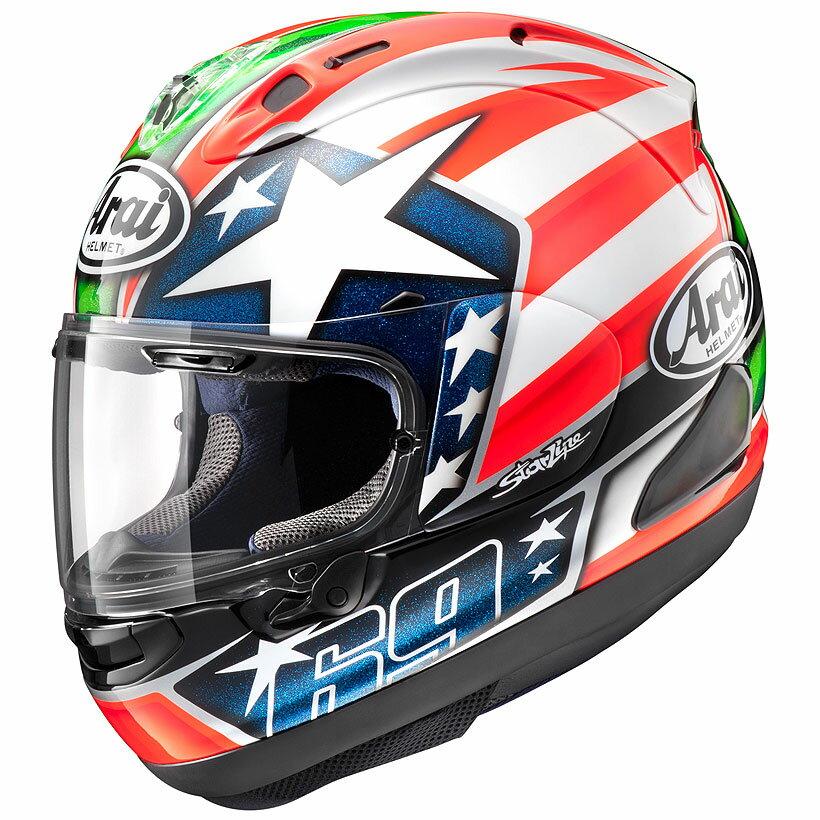 【動画あり】 ARAI フルフェイスヘルメット RX-7X HAYDEN (ヘイデン) XLサイズ 61-62cm