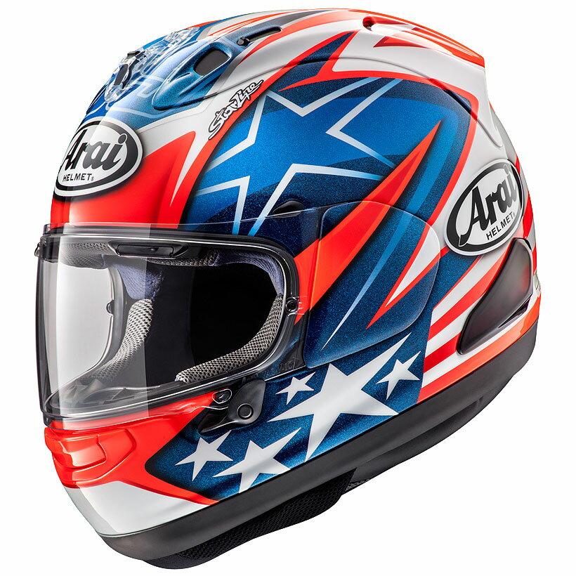 【動画あり】 ARAI フルフェイスヘルメット RX-7X HAYDEN SB (ヘイデンSB) Sサイズ 55-56cm