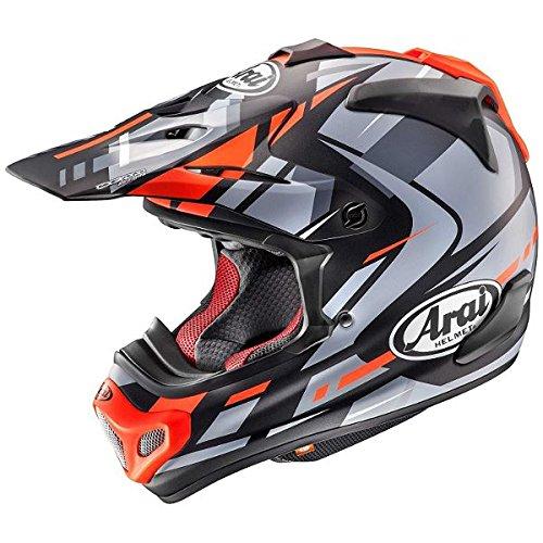 【動画あり】 ARAI オフロードヘルメット V-CROSS 4 BOGLE (ボーグル) レッド XLサイズ 61-62cm