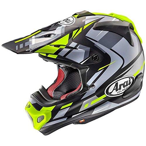 【動画あり】 ARAI オフロードヘルメット V-CROSS 4 BOGLE (ボーグル) イエロー XLサイズ 61-62cm