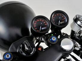 DAYTONA (デイトナ) バイク用 ミニメーター VELONA 電気式スピードメーター (非接触センサー無し) 200km/h ブラックボディ 3色LED 91683