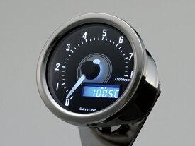 DAYTONA (デイトナ) バイク用 ミニメーター VELONA 電気式タコメーター 8000rpm バフボディー ホワイトLED 92252