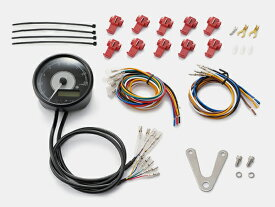 DAYTONA (デイトナ) バイク用 ミニメーター VELONA 電気式タコ&スピードメーター φ80 9000rpm ステンレスボディ ホワイトLED 95955
