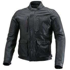 DAYTONA(デイトナ) バイク用 レザー ジャケット 2XLサイズ(メンズ) ブラック 春秋冬 スクランブラージャケット DL-501 17830