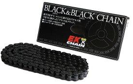 EKチェーン(江沼チェーン) 530ZV-X3 ブラック&ブラック 110リンク MLJ 【カシメジョイント