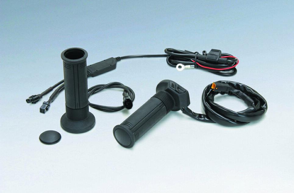 KIJIMA(キジマ) ハンドル グリップヒーター GH07 標準ハンドル対応 120mm スイッチ内蔵 304-8198