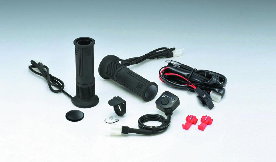 KIJIMA(キジマ) ハンドル グリップヒーター GH08 標準ハンドル対応 130mm プッシュスイッチタイプ 304-8204