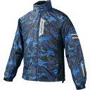 コミネ (Komine) バイク用 レインギア Rain gear RK-539 ブレスターレインウェア フィアート ブルー カモ 迷彩 Lサイ…