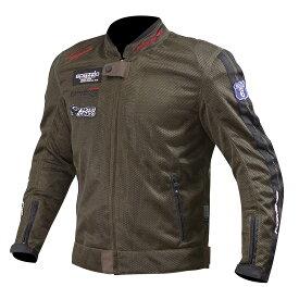 コミネ (Komine) バイク用 ジャケット Jacket JK-014 ライディングメッシュジャケット レジェンド オリーブ Mサイズ 07-014/OL/M