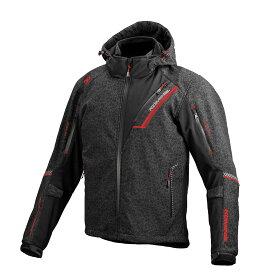 コミネ (Komine) バイク用 ジャケット Jacket JK-579 プロテクトソフトシェルウインターパーカ イフ(HRカラー) HR ブラック レッド 黒 赤 Mサイズ 07-5791/H.BKRD/M