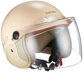 リード工業 ジェットヘルメット Street Alice QJ-3 パールアイボリー レディースフリーサイズ (57-60cm未満)