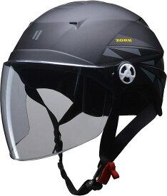 リード工業(LEAD) バイク用ハーフヘルメット ZORK (ゾーク) マットブラック 大きめフリー (60~62cm 未満) -