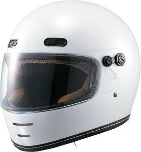 マルシン(MARUSHIN) バイクヘルメット ネオレトロ フルフェイス END MILL (エンド ミル) パールホワイト Mサイズ MNF1 2001114