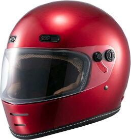 マルシン(MARUSHIN) バイクヘルメット ネオレトロ フルフェイス END MILL (エンド ミル) キャンディーレッド XLサイズ MNF1 2001216