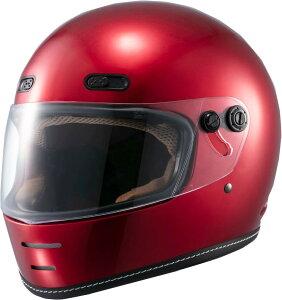 マルシン(MARUSHIN) バイクヘルメット ネオレトロ フルフェイス END MILL (エンド ミル) キャンディーレッド Lサイズ MNF1 2001215