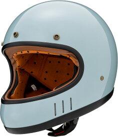 マルシン(MARUSHIN) バイクヘルメット ネオレトロ フルフェイス DRILL (ドリル) クラシックブルー Mサイズ MNF2 2002514