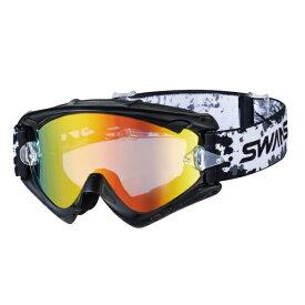 SWANS (スワンズ) バイク用 ゴーグル MX-RUSH-M BK (MX ラッシュ ブラック) ダートゴーグル ミラータイプ 5008069036041