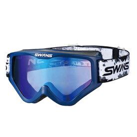 SWANS (スワンズ) バイク用 ゴーグル MX-797-M DBL (フラッシュブルーミラー スモーク) メガネ対応ダートゴーグル ミラータイプ 5007971612154
