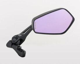タナックス (TANAX) バイクミラー ナポレオン シャークミラー3 ブラック 防眩鏡【RAYSAVE】 左右共通 10mm正ネジ AOS3 (1本入り)